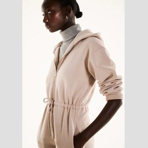 Zara Plush Jumpsuit with Hood